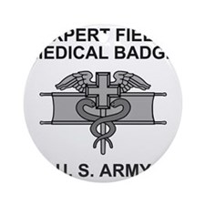 Army-Expert-Field-Medical-Badge-Shi Round Ornament