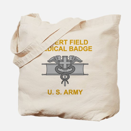 Army-Expert-Field-Medical-Badge-Black-Shi Tote Bag