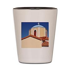 Greek church Shot Glass