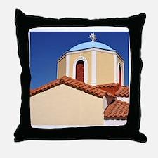 Greek church Throw Pillow
