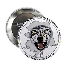 """Army-172nd-Stryker-Bde-Arctic-Wolves- 2.25"""" Button"""