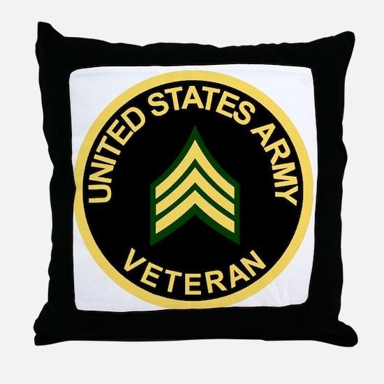 Army-Veteran-Sgt-Black.gif Throw Pillow