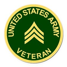 Army-Veteran-Sgt-Green.gif Round Car Magnet