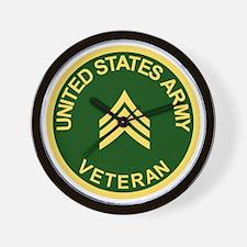 Army-Veteran-Sgt-Green.gif Wall Clock