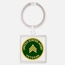Army-Veteran-Sgt-Green.gif Square Keychain