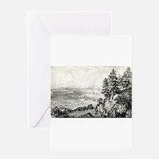 Long Island sound - 1869 Greeting Card