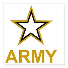 "Army-Black-Shirt-3 Square Car Magnet 3"" x 3"""