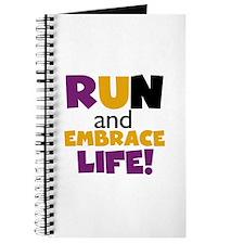 Embrace Life Purple Yellow Journal