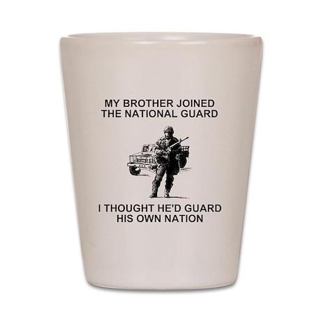 International-Guard-My-Brother.gif Shot Glass