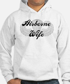 Airborne Wife with Jump Wings Hoodie