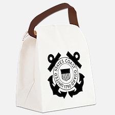 USCG-Logo-2-Black.g... Canvas Lunch Bag