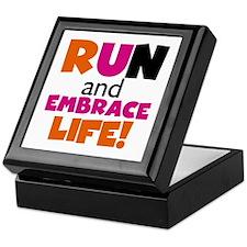 Embrace Life Orange Pink Keepsake Box