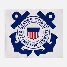 USCG-Logo-2-Blue.gi... Throw Blanket