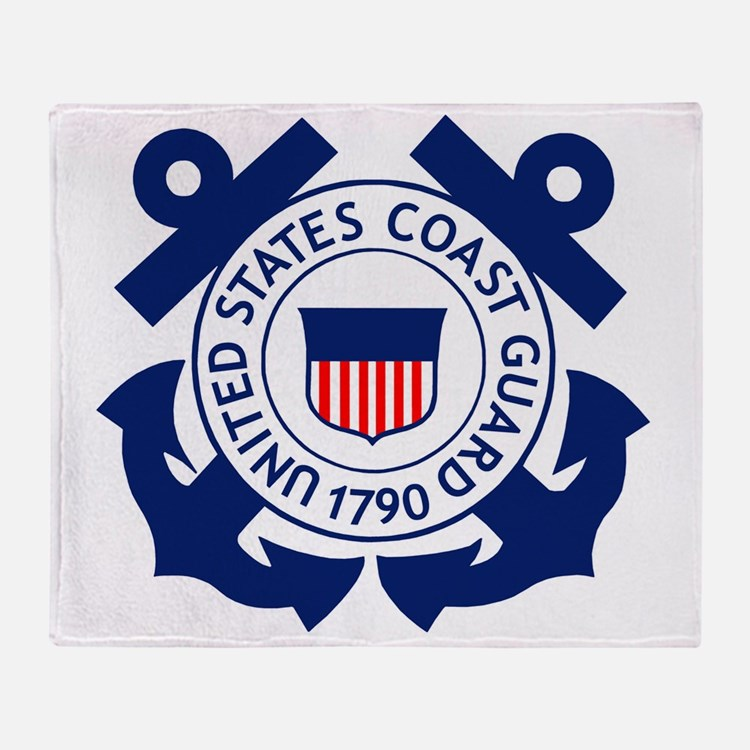 USCG-Logo-2-Blue.gi... Throw Blanket