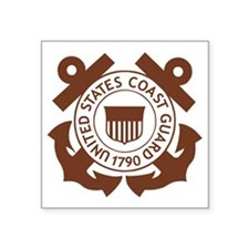 "USCG-Logo-2-Brown.g... Square Sticker 3"" x 3"""