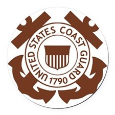 USCG-Logo-2-Brown.g... Round Car Magnet