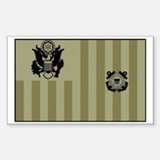 USCG-Ensign-Flag-Su... Sticker (Rectangle)