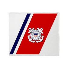 USCG-Racing-Stripe-... Throw Blanket