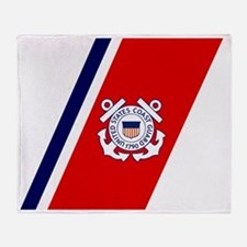USCG-Racing-Stripe-... Throw Blanket