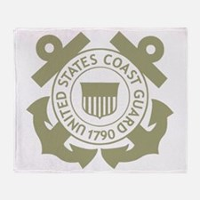 USCG-Black-Shirt-3 Throw Blanket
