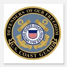 "USCG-Defenders-Of-F... Square Car Magnet 3"" x 3"""