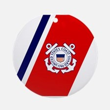USCG-Tile-2.gif Round Ornament
