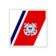 "USCG-Tile-2.gif Square Sticker 3"" x 3"""