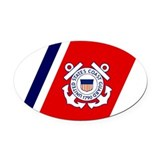 Coast guard Oval Car Magnets