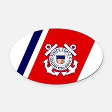 USCG-Mousepad-1.gif Oval Car Magnet
