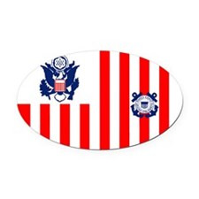 USCG-Sticker.gif Oval Car Magnet