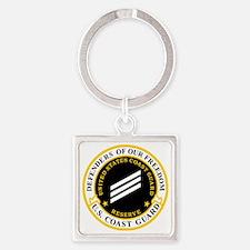 USCGR-SN-Black-Shirt Square Keychain
