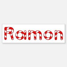 Ramon - Candy Cane Bumper Bumper Bumper Sticker
