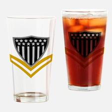 USCG-PO2-Black-Shirt-2 Drinking Glass