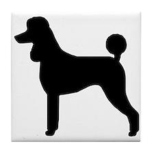 """Poodle Silhouette"" Tile Coaster"