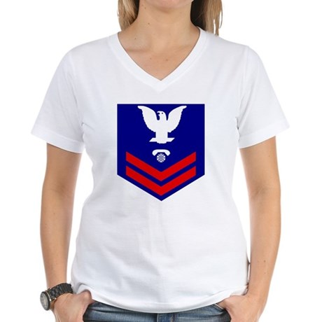 USCG-IT2-Bonnie.gif Women's V-Neck T-Shirt