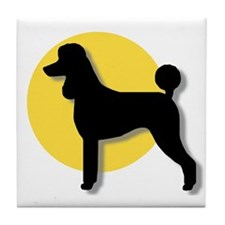 """Spotlight on Poodles"" Tile Coaster"