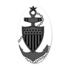 USCG-SCPO-Pin-Subdued-X.gif Oval Car Magnet