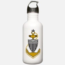 USCG-SCPO-Pin-Bonnie-Y Water Bottle
