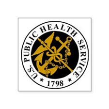 "USPHS-Logo-For-Stripes.gif Square Sticker 3"" x 3"""