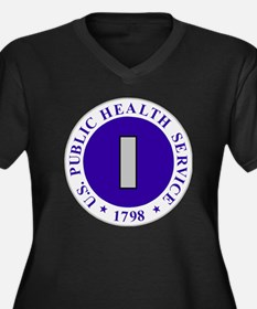 USPHS-LTJG.g Women's Plus Size Dark V-Neck T-Shirt