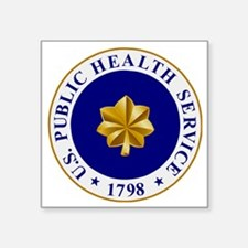 """USPHS-LCDR.gif Square Sticker 3"""" x 3"""""""