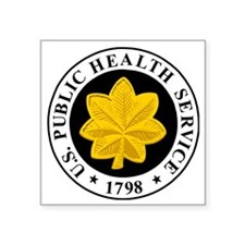 "USPHS-LCDR-Cap.gif Square Sticker 3"" x 3"""