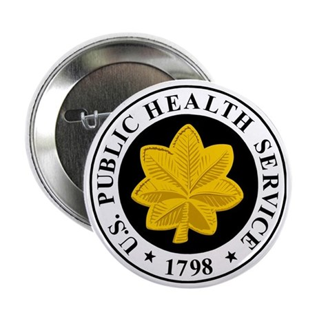 """USPHS-LCDR-Cap.gif 2.25"""" Button"""