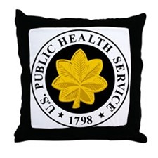 USPHS-LCDR-Cap.gif Throw Pillow