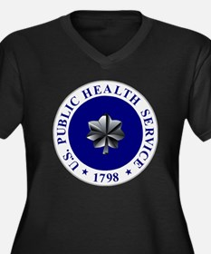 USPHS-CDR.gi Women's Plus Size Dark V-Neck T-Shirt