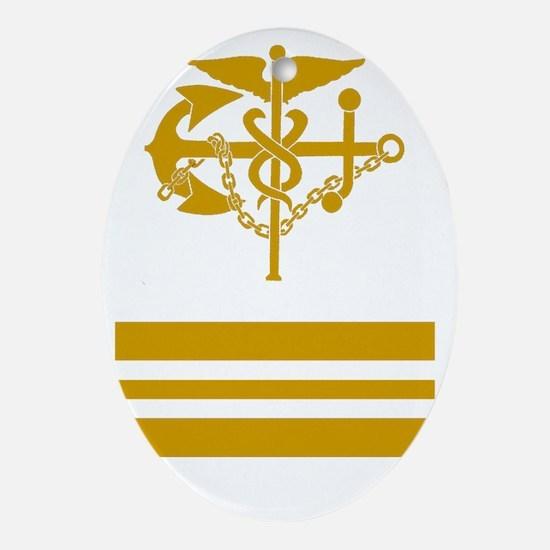 USPHS-LCDR-Black-Shirt Oval Ornament