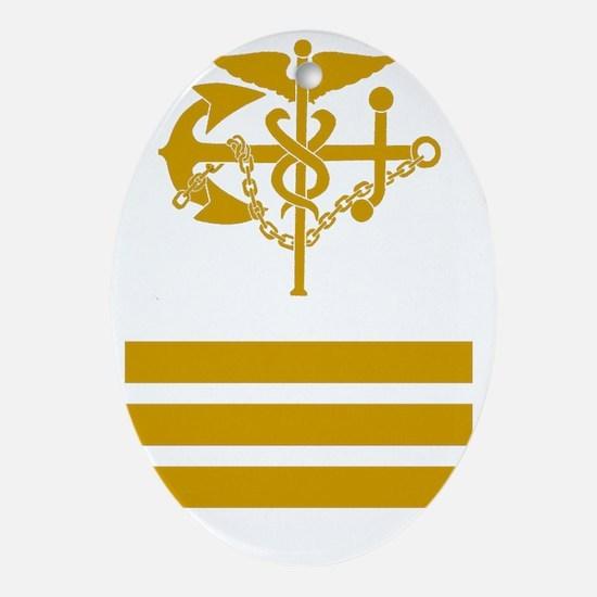 USPHS-CDR-Black-Shirt Oval Ornament