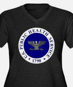 USPHS-CAPT.g Women's Plus Size Dark V-Neck T-Shirt