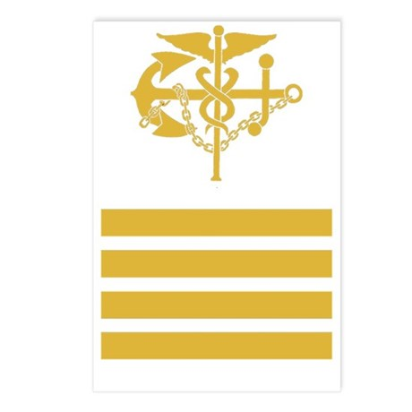USPHS-CAPT-Black-Shirt Postcards (Package of 8)