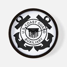 USCGAux-Logo-Black.gif Wall Clock